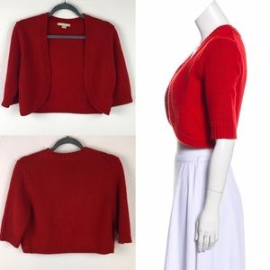 MIchael Kors Cashmere Shrug in Romantic Ruby Red
